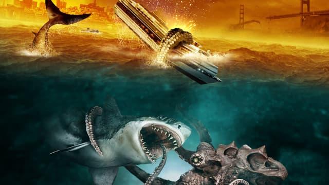 Mega Shark Vs Giant Octopus Vs Crocosaurus Vs Mecha Shark